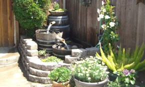 Barrel Ideas Dave Julis Wine Barrel Fountain Bamboo Arts And intended for 10 Smart Ways How to Craft Backyard Water Feature Ideas