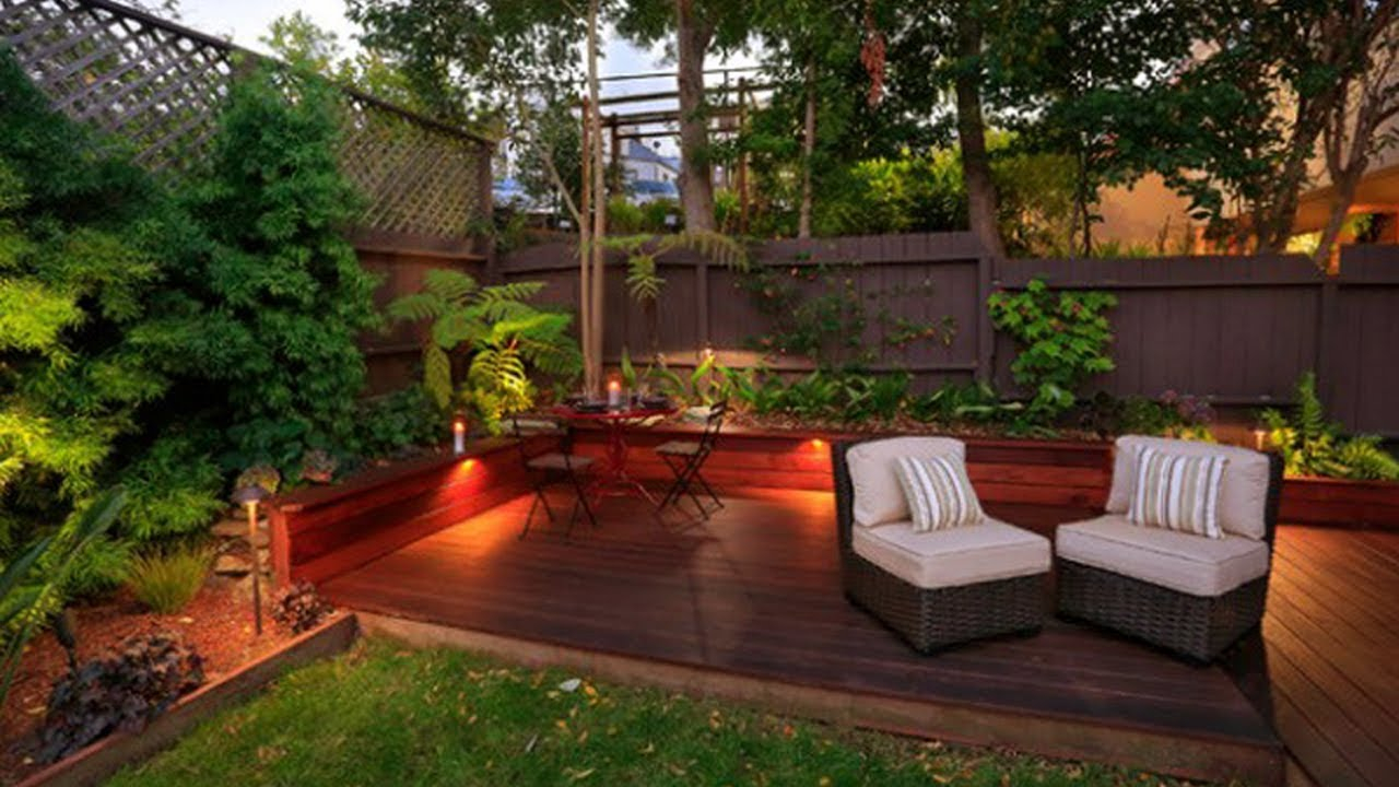 Beautiful Small Wooden Deck Patio Ideas Small Backyard Deck in Deck And Patio Ideas For Small Backyards