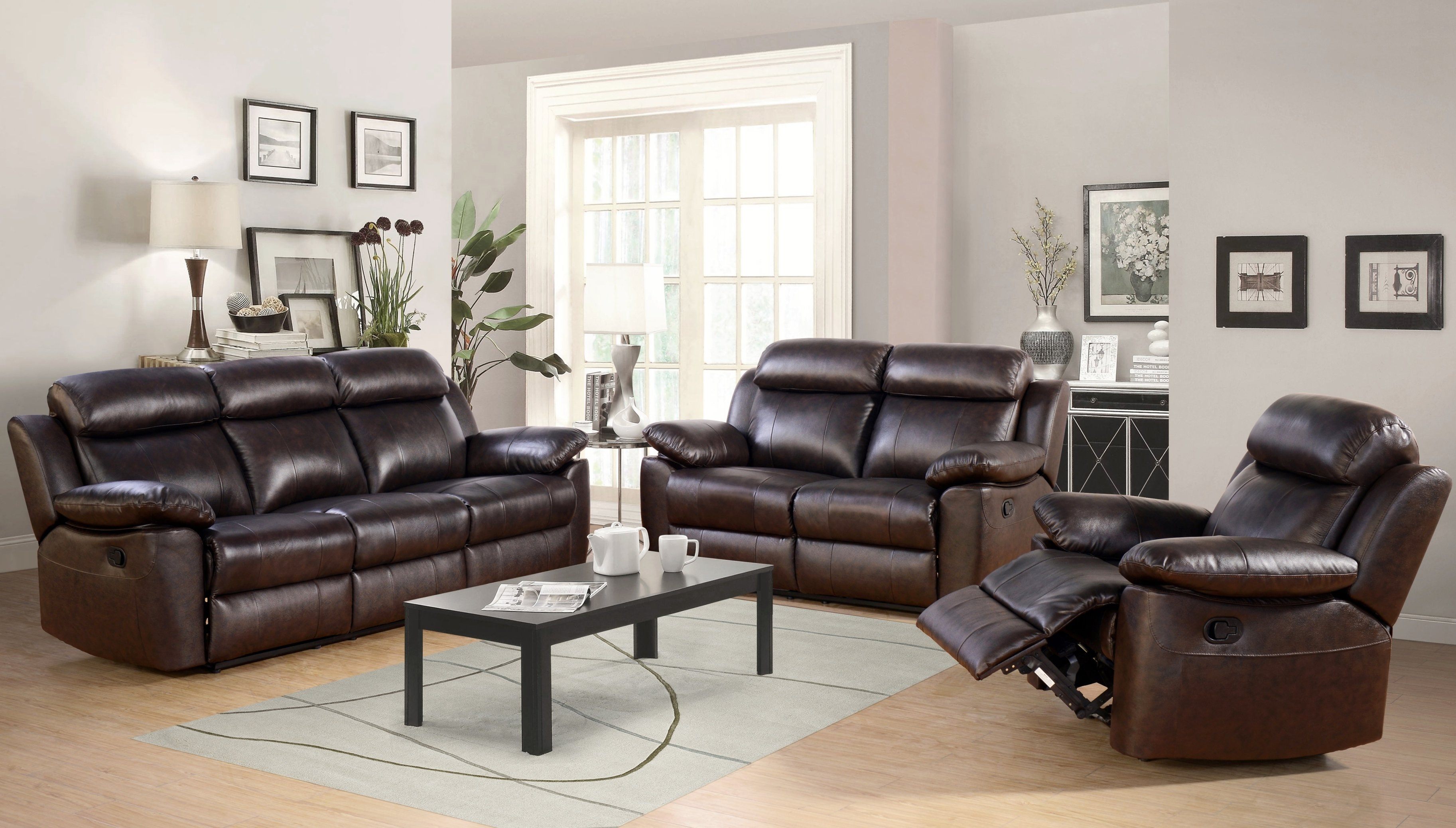 Breakwater Bay Oliver Reclining Leather 3 Piece Living Room Set within 11 Genius Tricks of How to Build 3 Piece Leather Living Room Set