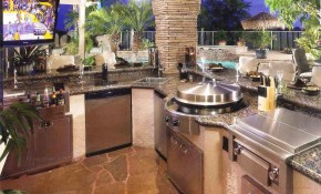 Charming Best Backyard Kitchen Designs South White Mitre Small Ideas within Backyard Kitchen Design Ideas