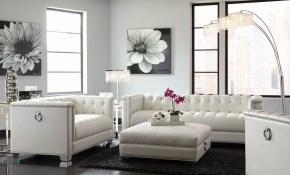 Chaviano Pearl White Living Room Set 1stopbedrooms intended for 15 Genius Concepts of How to Makeover White Living Room Set