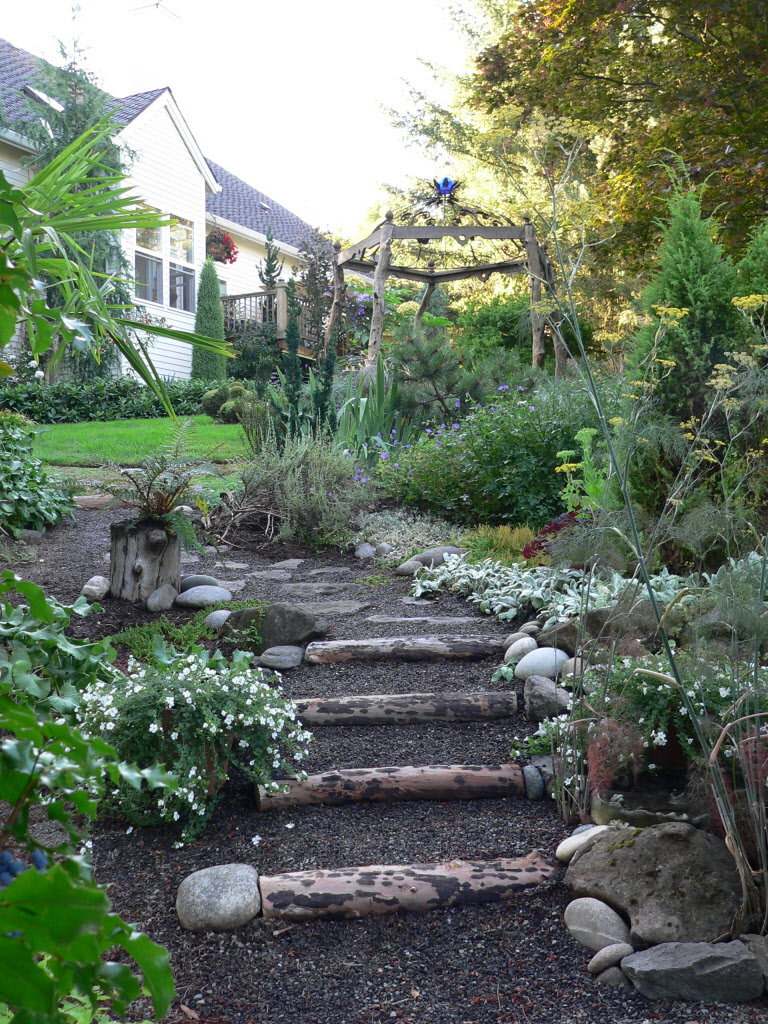 Create Garden Steps From Felled Tree The Pecks Oregonlive throughout 13 Smart Tricks of How to Improve Backyard Steps Ideas