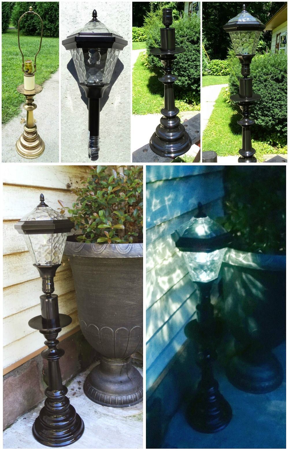 Diy Solar Lamp Just Use An Inexpensive Solar Stake Light And An Old pertaining to Backyard Solar Lighting Ideas