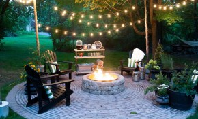 Firepit Patio Country Cottage Diy Circular Outdoor Entertaining throughout Backyard Fire Pits Ideas
