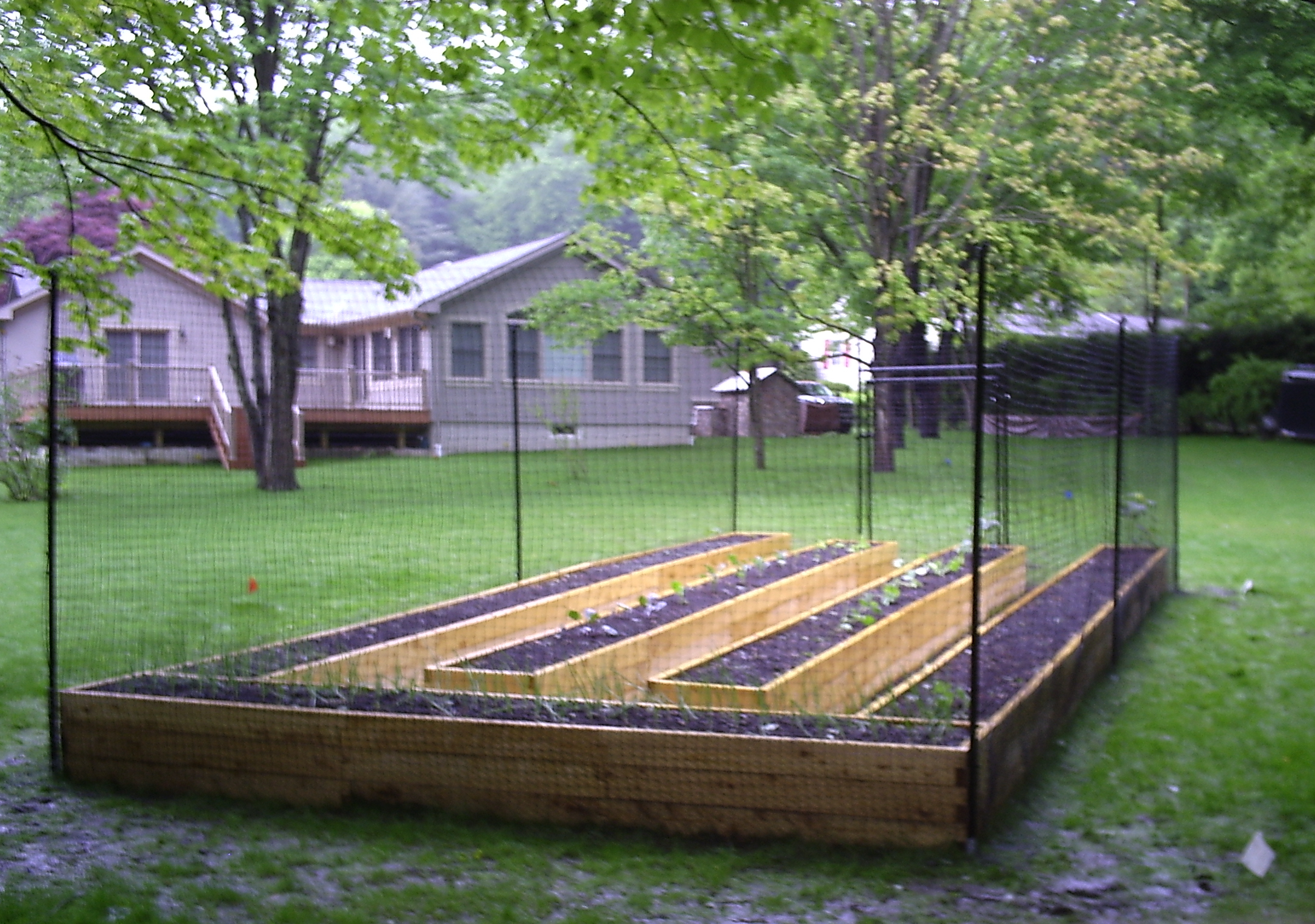 Garden Fence Ideas Home Landscape Design intended for Backyard Garden Fence