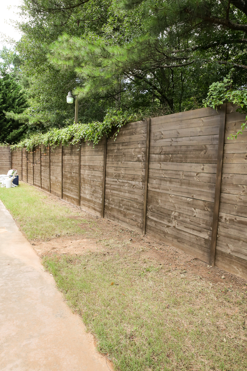 How To Build A Wood Fence On A Chainlink Fence Bower Power with How To Build A Backyard Fence