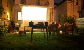 How To Project A Movie Outside Popsugar Tech in 14 Clever Ideas How to Make Backyard Theater Ideas