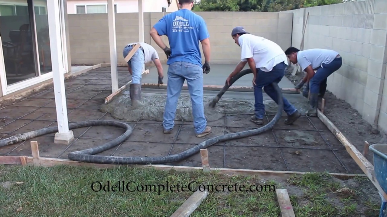 How To Setup A Backyard For A Patio Concrete Pour Start To Finish intended for Cement Ideas For Backyard