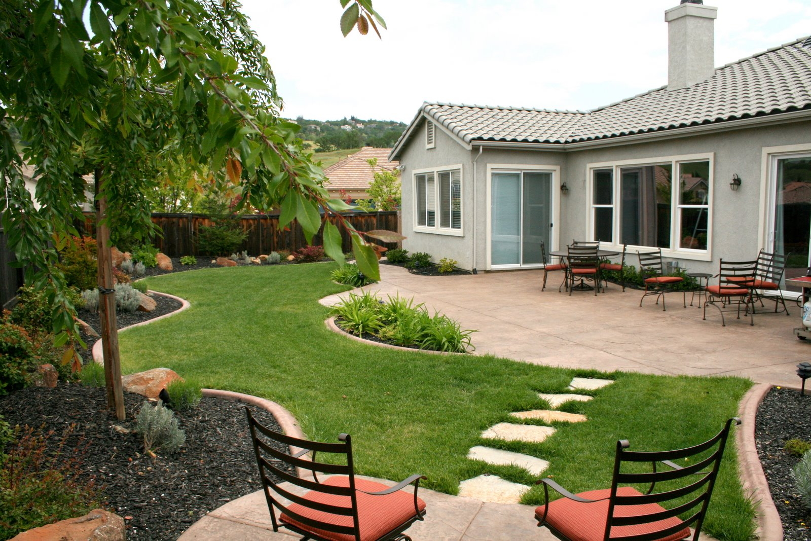 Landscaping Ideas For Backyard Wedding Home Design Landscaping throughout House Backyard Ideas