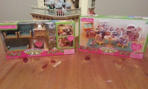 Laundry Cart Turns Into Kitchen This Will Make Sense Mamas Minis throughout Calico Critters Deluxe Living Room Set