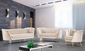 Margo Living Room Set Cream Meridian Furniture Furniturepick with 10 Awesome Concepts of How to Craft Cream Living Room Set