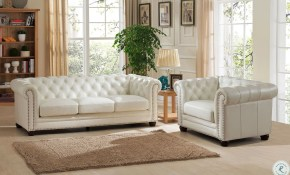 Monaco Pearl White Leather Living Room Set From Amax Leather for White Leather Living Room Set