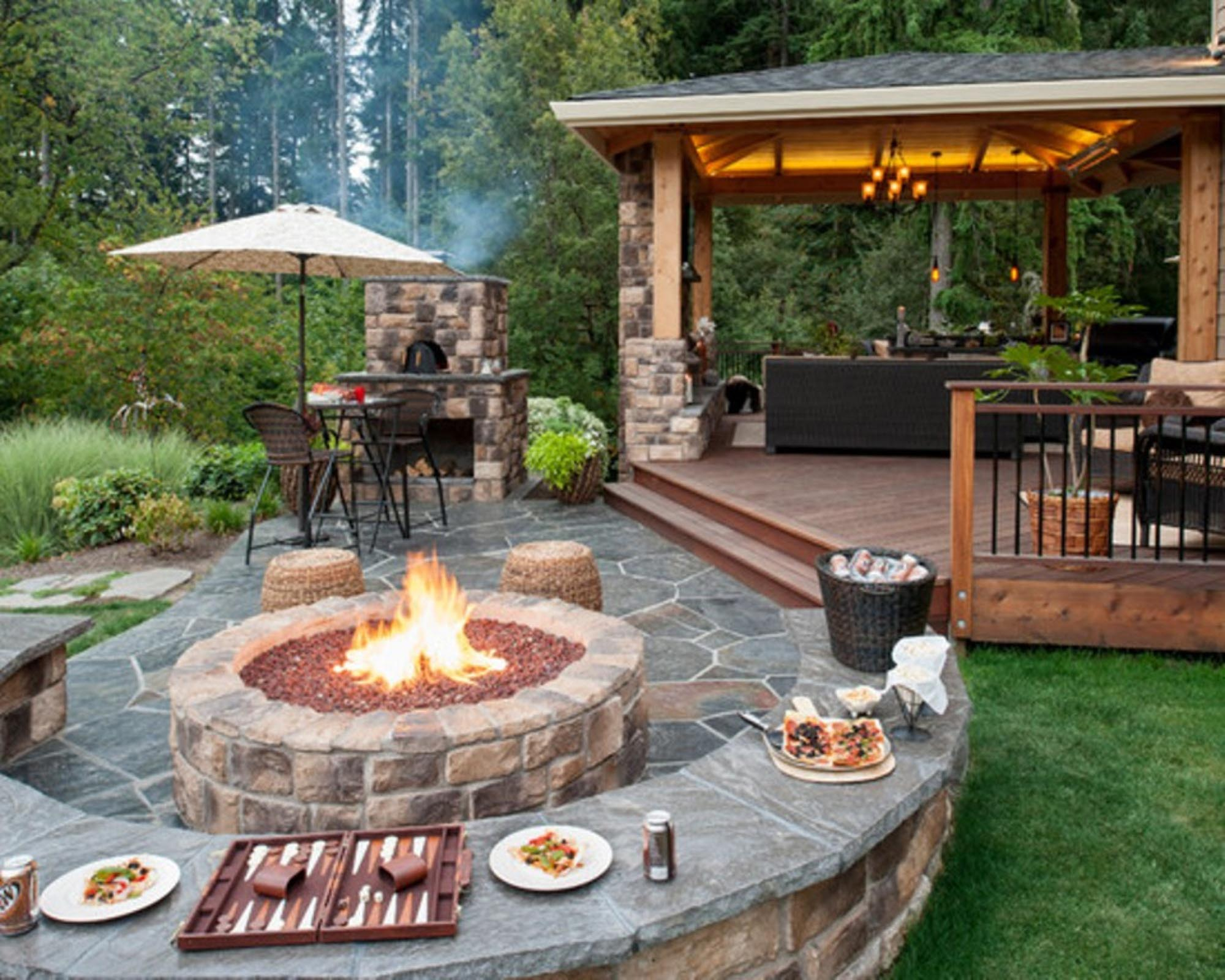Outdoor Patio Ideas With Fire Pit Fire Pit Design Ideas inside Backyard Patio Ideas With Fire Pit