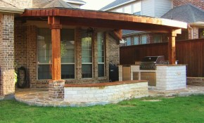 Patio Designs 14x24 Cedar Patio Cover Complete With 2 Brick intended for 14 Awesome Ways How to Upgrade Covered Backyard Patio Ideas