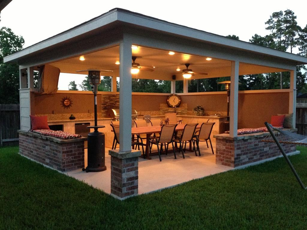 Pin David Teague On Ideas For The House Outdoor Kitchen Design with Covered Backyard Patio Ideas