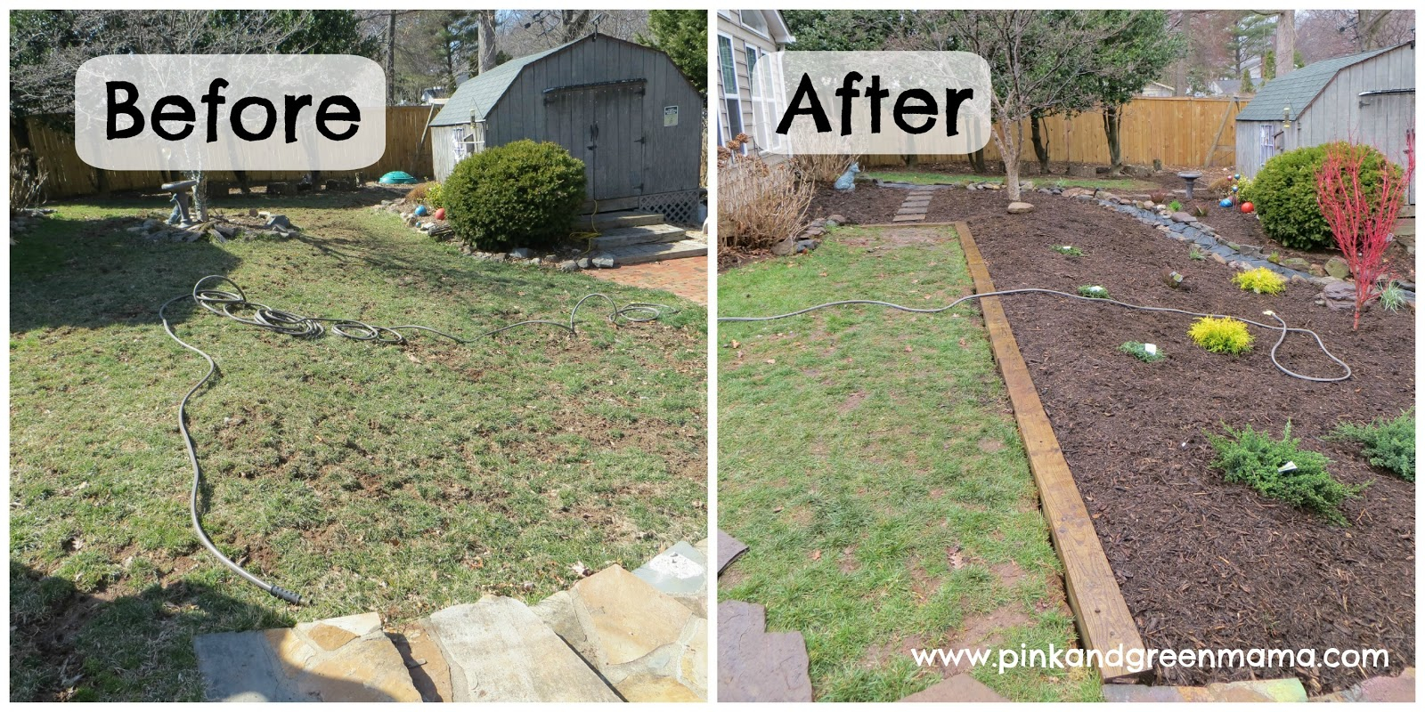 Pink And Green Mama Diy Backyard Makeover On A Budget With Help inside Backyard Makeover Ideas Diy