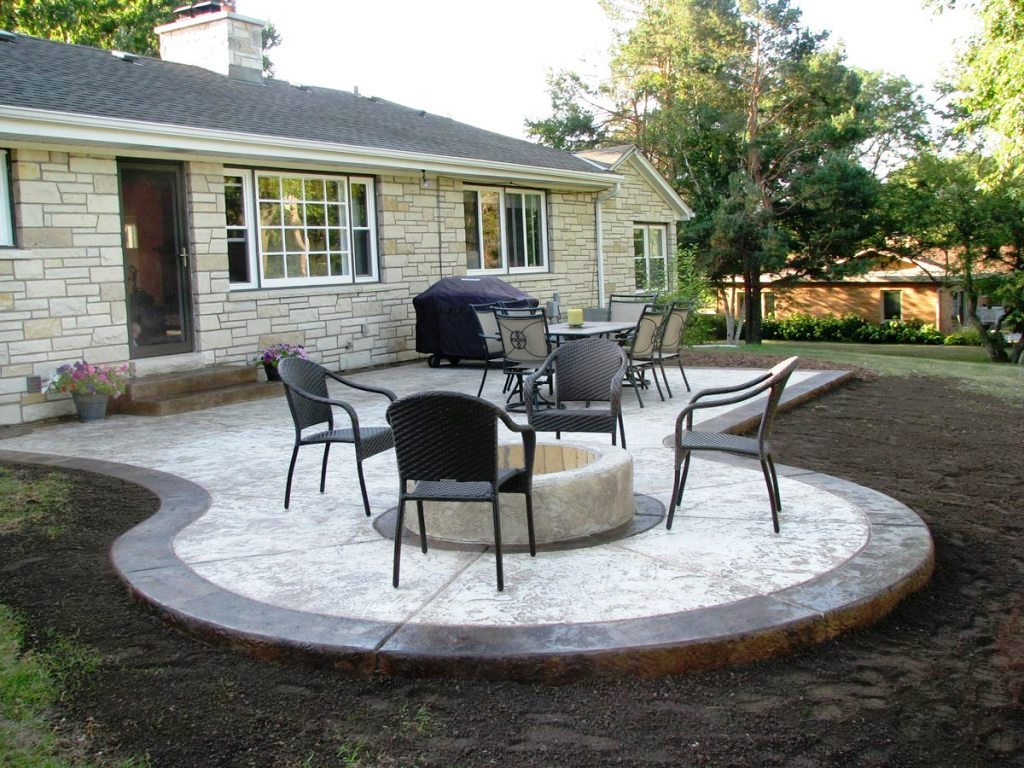 Raised Concrete Patio Ideas Awesome Patio Ideas How To Mix pertaining to Cement Ideas For Backyard