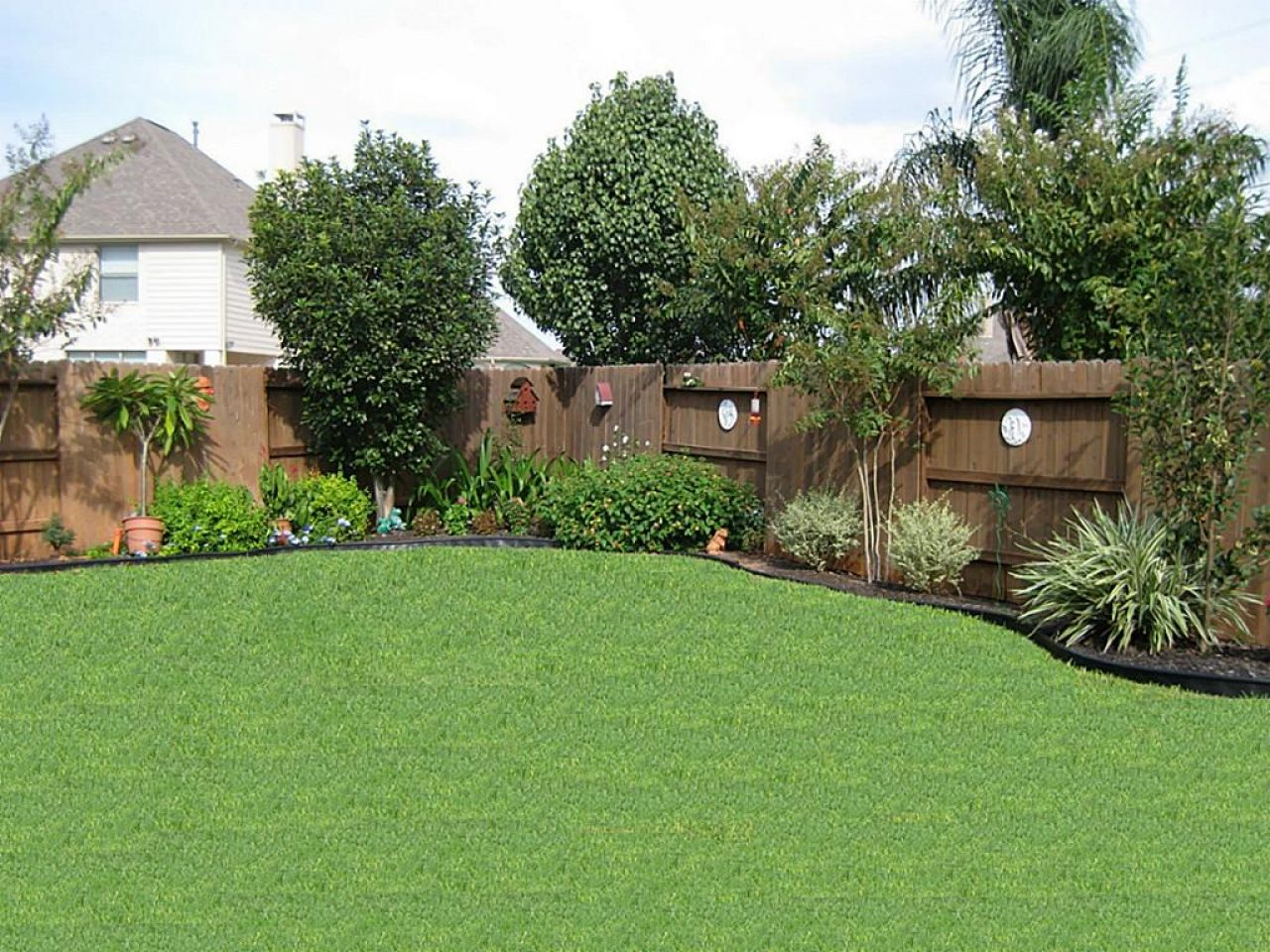 Simple Backyard Landscaping Ideas On A Budget Green House pertaining to Simple Backyard Landscaping