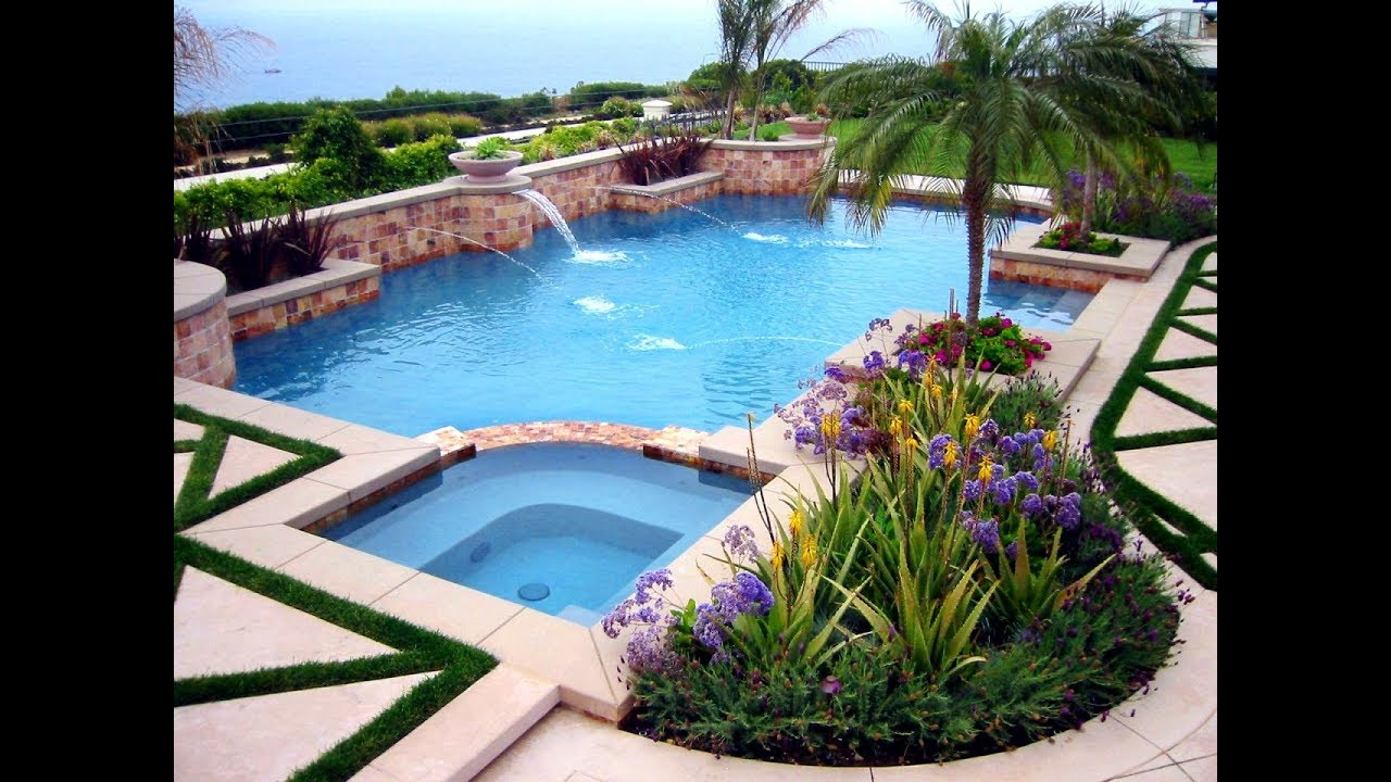 Swimming Pool Landscaping Ideas For Backyard Youtube with 10 Clever Designs of How to Improve Backyard Pool Landscaping Ideas