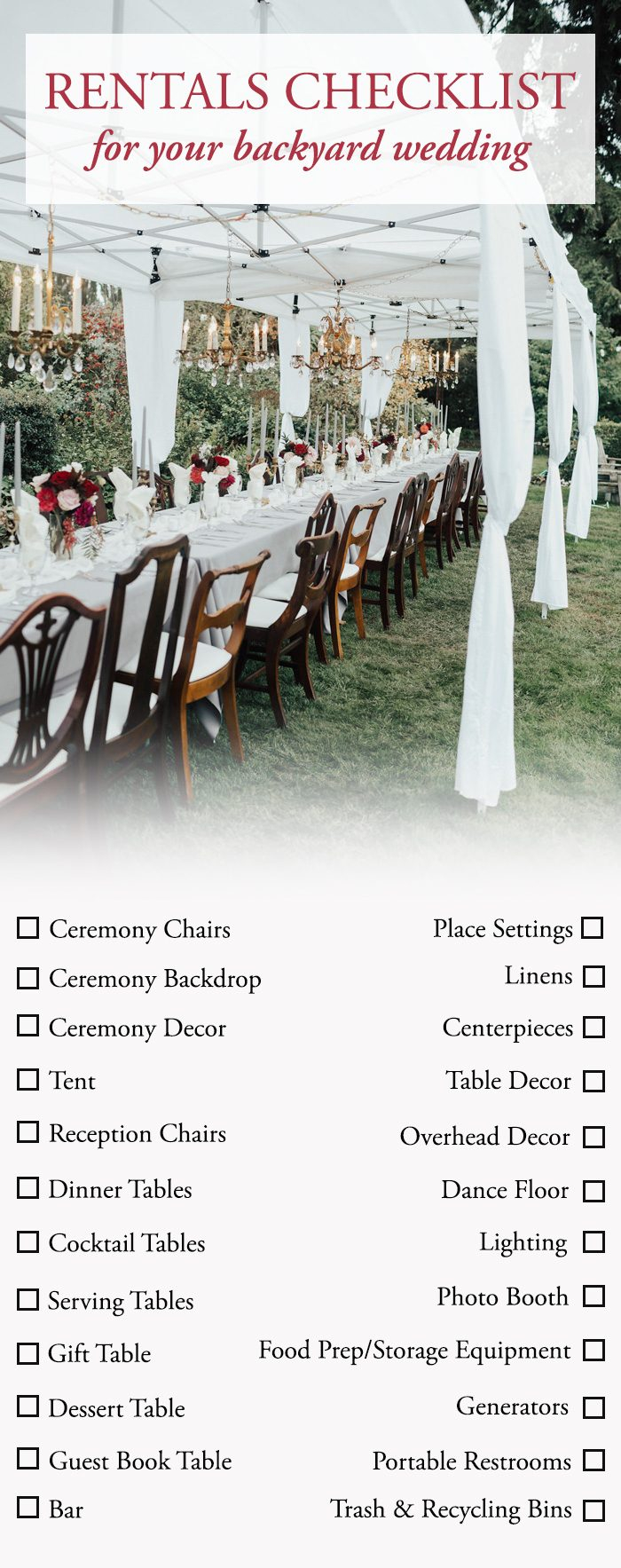 The Ultimate Guide To Planning A Backyard Wedding Junebug Weddings with 11 Awesome Concepts of How to Make Backyard Wedding Reception Decorations