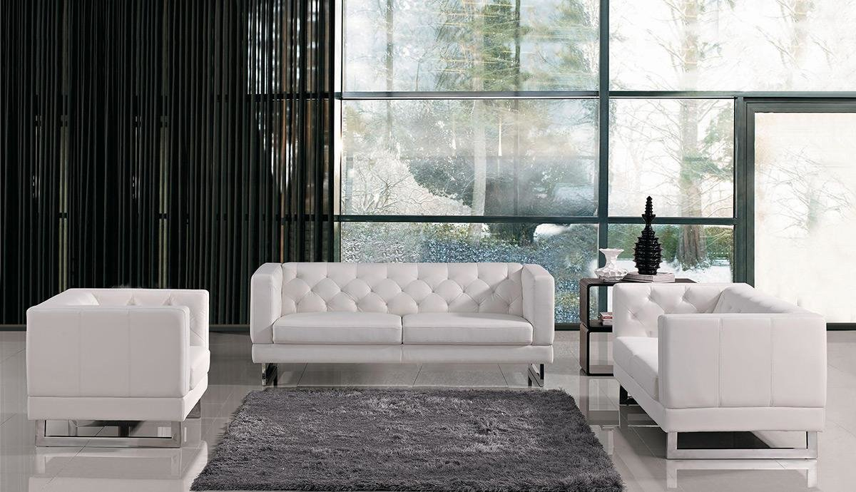 Wade Logan Alsatia 3 Piece Leather Living Room Set Reviews Wayfair for 15 Awesome Concepts of How to Improve White Leather Living Room Set