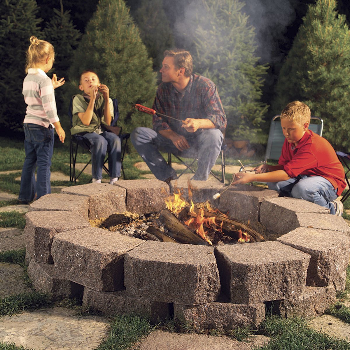 12 Great Backyard Fire Pit Ideas The Family Handyman pertaining to Backyard Firepit Ideas