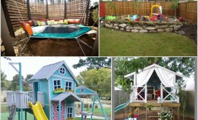 12 Super Cool Ideas For A Backyard Kids Play Area in Backyard Play Area Ideas