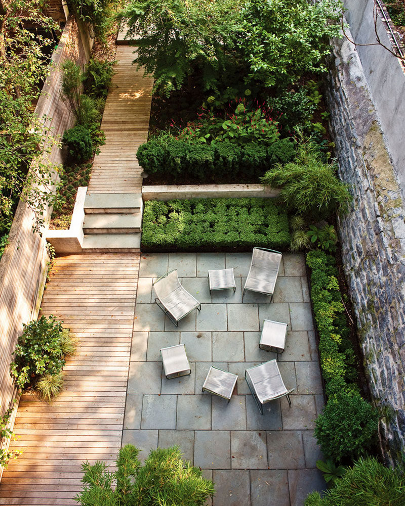 16 Inspirational Backyard Landscape Designs As Seen From Above intended for Long Backyard Ideas