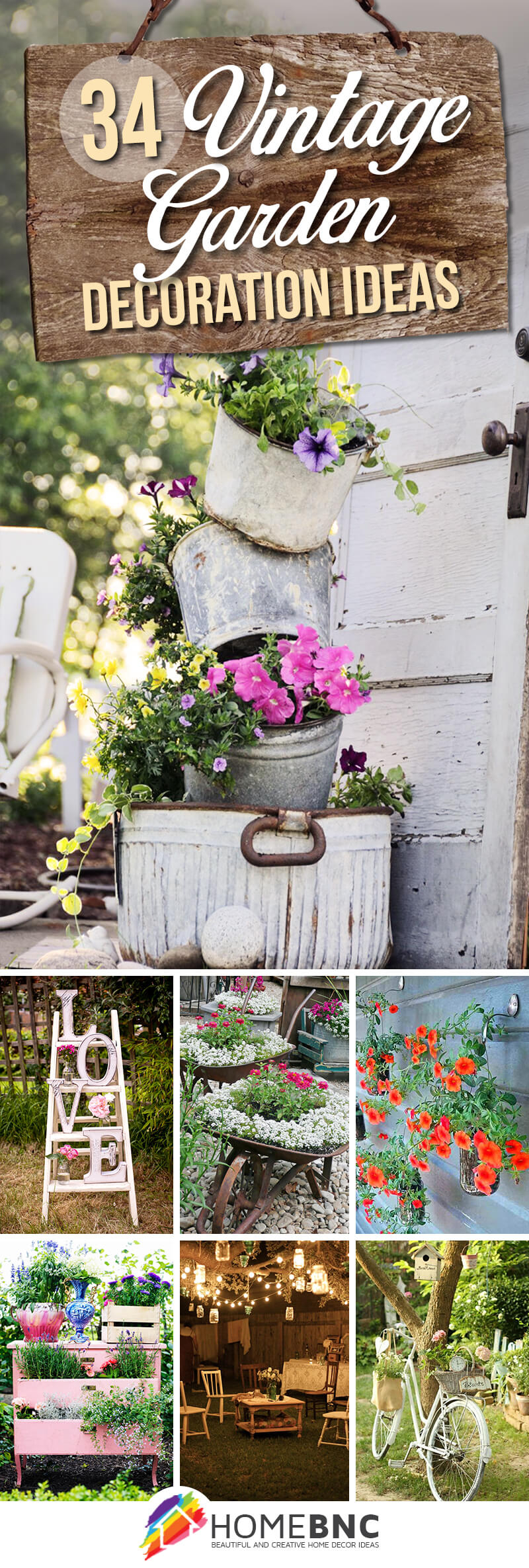 34 Best Vintage Garden Decor Ideas And Designs For 2019 with Ideas To Decorate Backyard