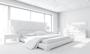 3d Clay Render Of A Modern Bedroom within 15 Awesome Designs of How to Makeover All White Modern Bedroom