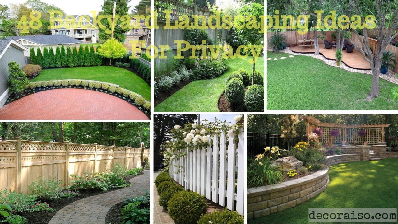 48 Backyard Landscaping Ideas With Private Fence Decoraiso for Backyard Ideas For Privacy