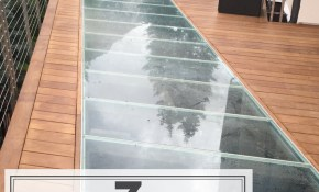 7 Fun Ideas Using Glass For An Outdoor Patio Deck Or Garden Stairs in 13 Some of the Coolest Tricks of How to Make Backyard Patio Deck Ideas