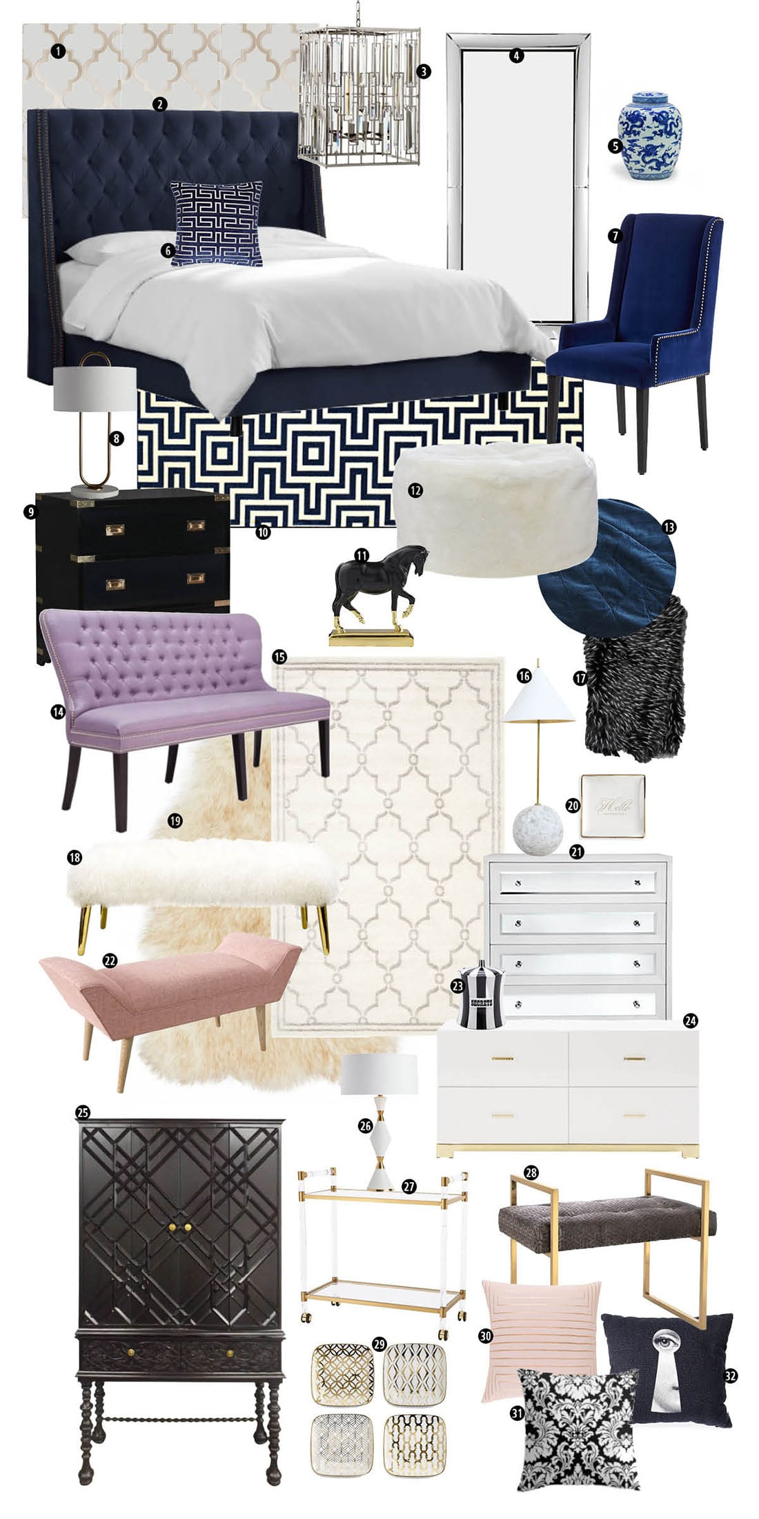 8 Signs Modern Glam Decor Is Your Signature Style Little Gold Pixel for 12 Awesome Concepts of How to Makeover Modern Glam Bedroom