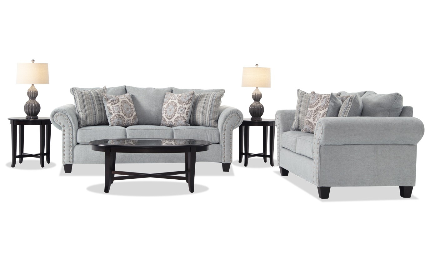 Artisan Blue 7 Piece Living Room Set Bobs throughout 11 Smart Ways How to Build Bobs Living Room Sets