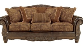 Ashley Furniture Fresco Durablend Antique Sofa The Classy Home with Ashley Leather Living Room Sets