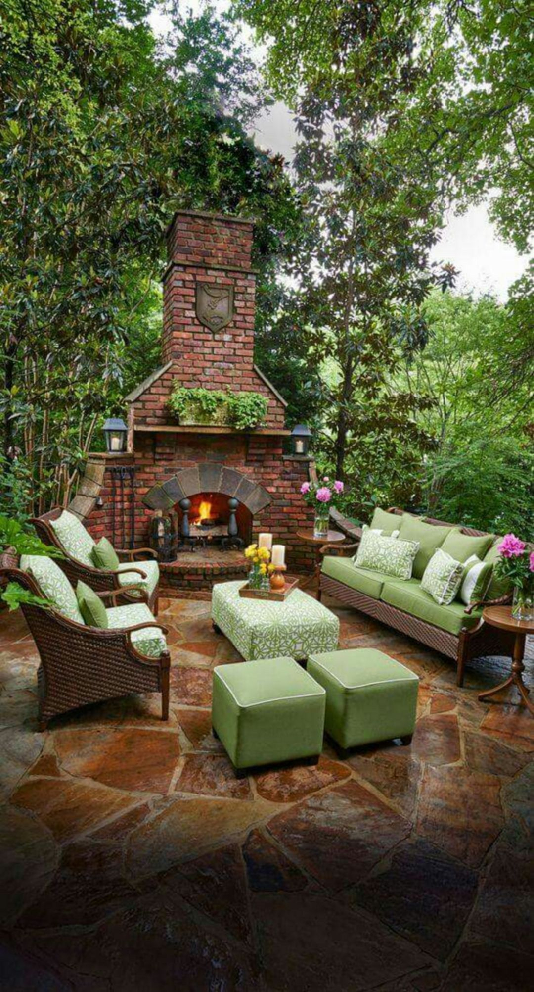 Astonshing Rustic Outdoor Fireplace Design Ideas 687 Outdoor throughout 10 Clever Initiatives of How to Improve Backyard Living Ideas