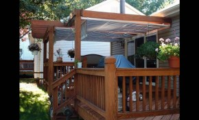 Awnings For Decks Ideas Youtube inside 12 Awesome Initiatives of How to Craft Backyard Awning Ideas