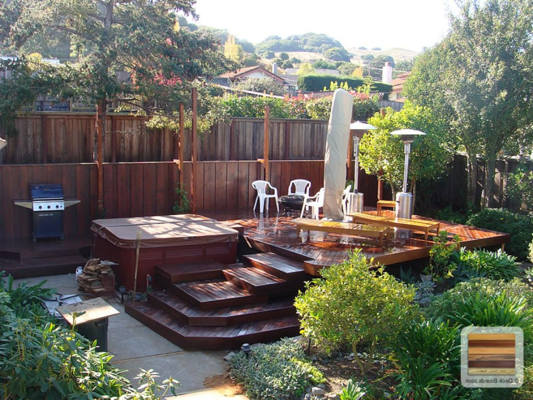 Backyard Deck Ideas Pictures Back Design Small Modern Composite within 14 Some of the Coolest Tricks of How to Makeover Backyard Small Deck Ideas