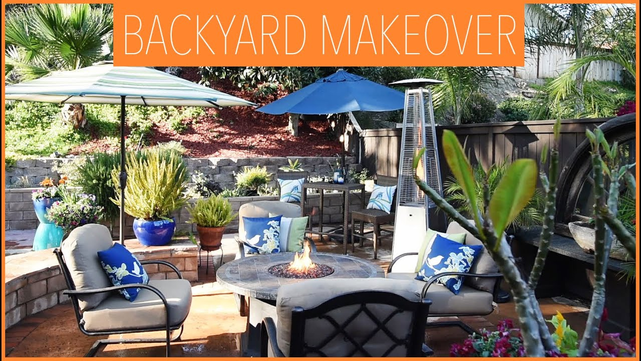 Backyard Ideas Interior Decorating From Drab To Fab Youtube intended for Decorating A Backyard
