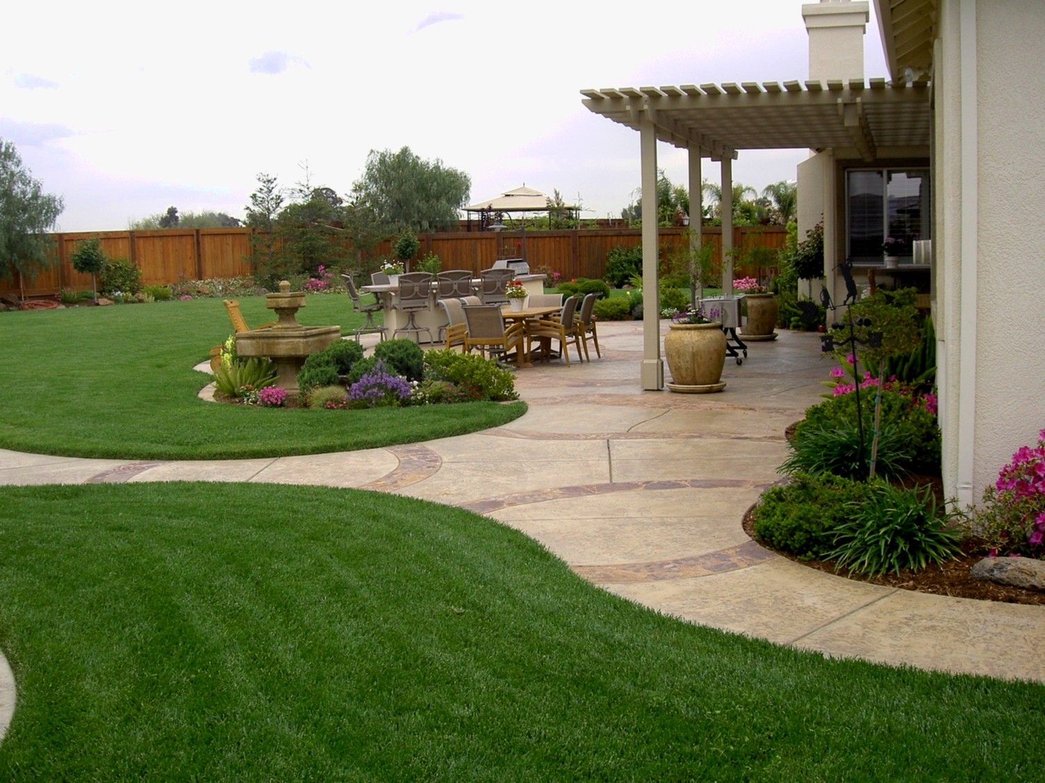 Backyard Landscape Designs With Modern Landscaping With Backyard in Backyard Landscape Design Photos
