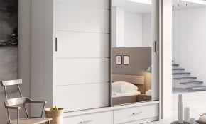 Brand New Modern Bedroom Mirror Sliding Door Wardrobe Arti 5 200cm throughout Modern Bedroom Mirrors