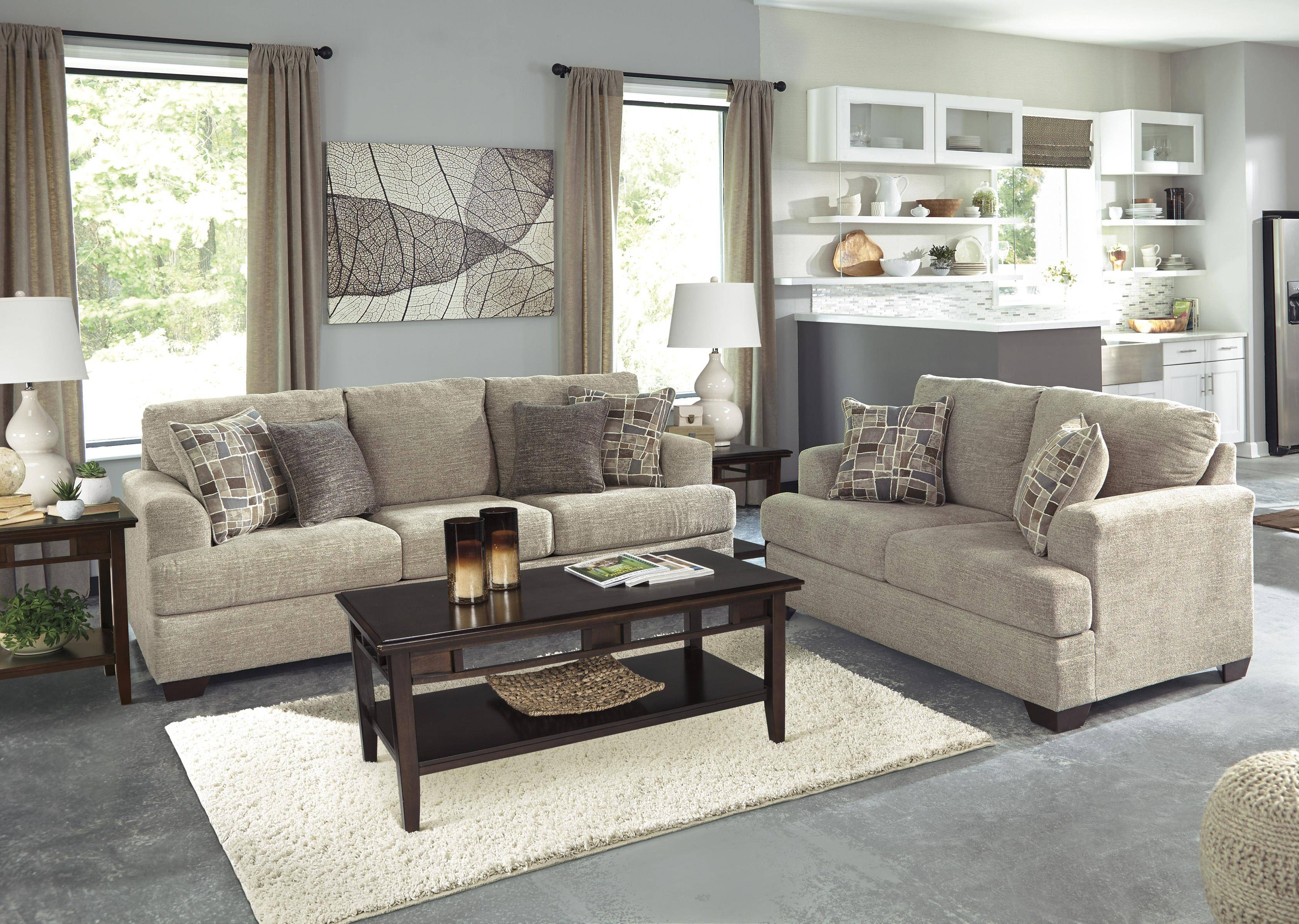 Buy Ashley Barrish Living Room Set 2 Pcs In Sisal Fabric Online within Buy Living Room Set