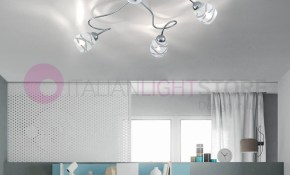 Camilla Ceiling Lamp Ceiling 5 Lights Chrome Modern pertaining to Modern Bedroom Lighting Ceiling