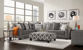 Carole Court Gray 3 Pc Sectional Living Room 119999 3pc Set with regard to 11 Awesome Initiatives of How to Makeover Affordable Living Room Sets