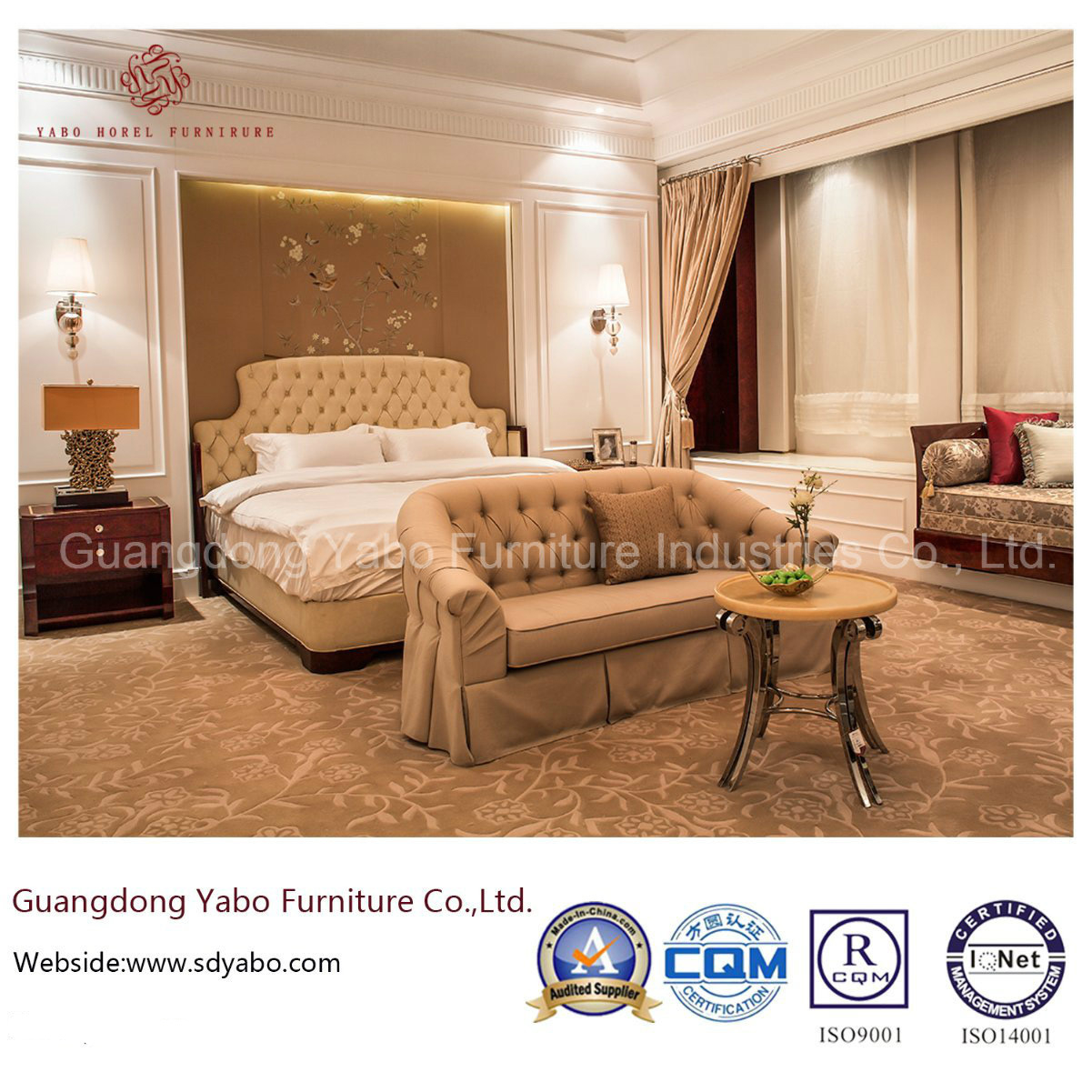 China Modern Luxury Hotel Furniture With Wood Bedroom Set Yb 827 for Modern Wood Bedroom