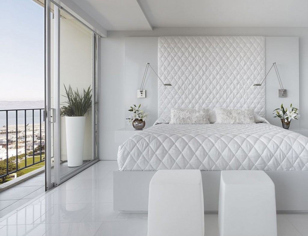 Dream White Bedroom Decorating Ideas Decoholic with All White Modern Bedroom