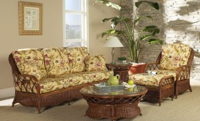 Eastwind 5 Piece Rattan Living Room Set From Classic Rattan Model throughout Wicker Living Room Sets