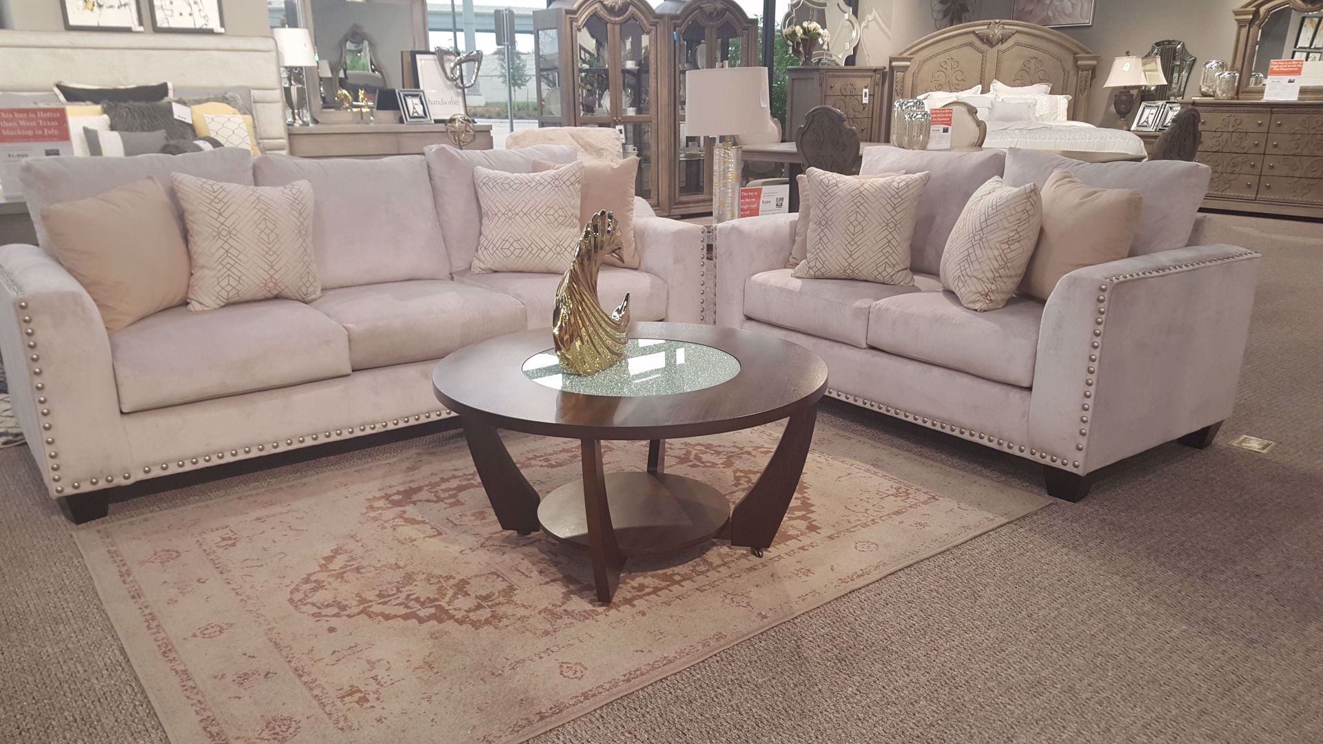 Fawn Brindle Living Room Furniture Houston Exclusive Furniture within Living Room Sets Houston
