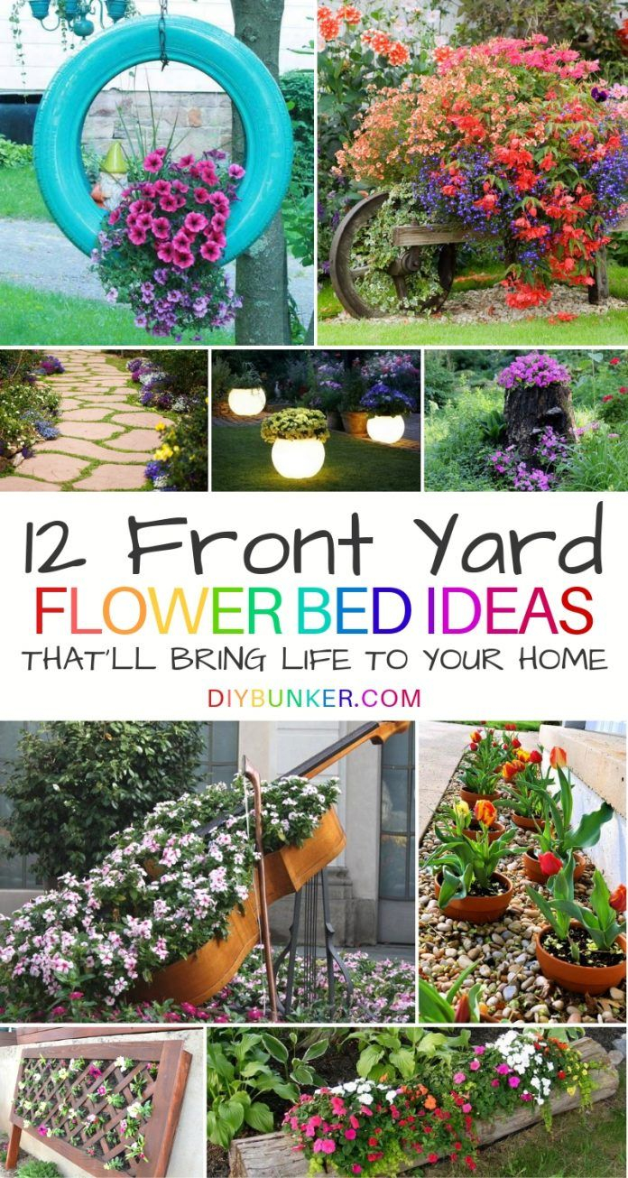Front Of House Flower Bed Ideas Thatll Bring Your Home To Life In in Backyard Flower Garden Ideas