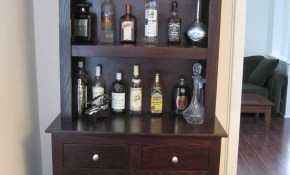 Furniture Charming Corner Bar Cabinet For Home Bar And Wine Racks pertaining to Living Room Bar Sets